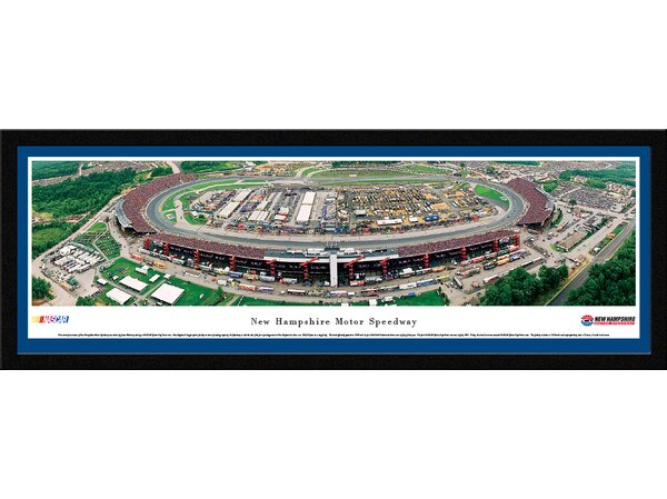NASCAR New Hampshire Motor Speedway by James Blakeway Framed Photographic Print by Blakeway Worldwide Panoramas, Inc