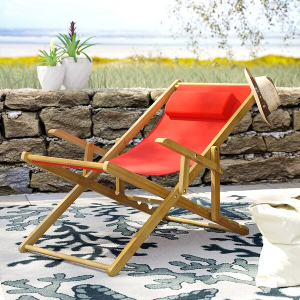 Hooksett Reclining Beach Chair by Rosecliff Heights