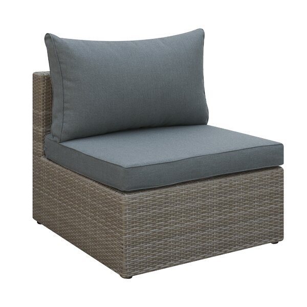 Basswood Outdoor Armless Chair with Cushion by A&J Homes Studio