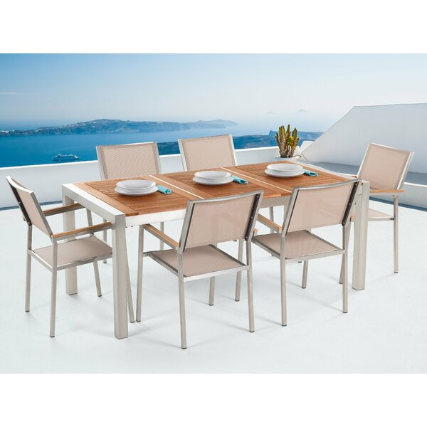 Zuzanna Patio 7 Piece Dining Set by Brayden Studio