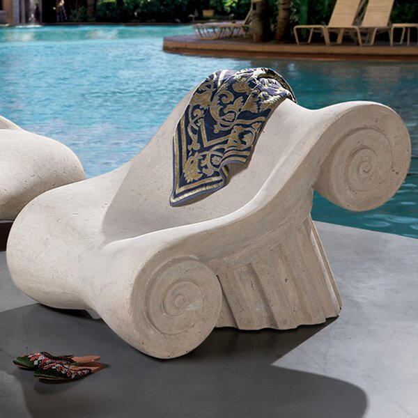 Hadrians Villa Roman Spa Furniture Masters Lounge Chair by Design Toscano