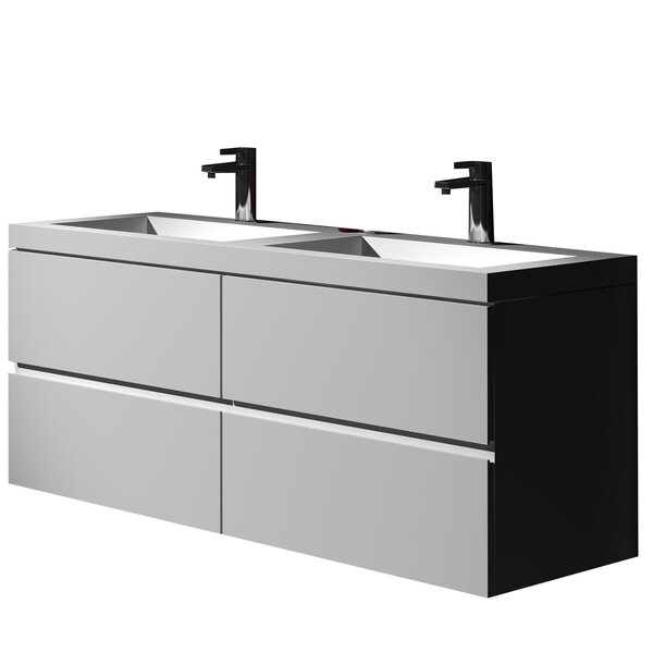 Gerhard 47.24 True Solid Single Sink Vanity Set with Cabinet by dCOR design