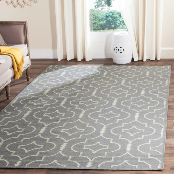 Crawford Hand-Woven Gray/Ivory Area Rug by Brayden Studio