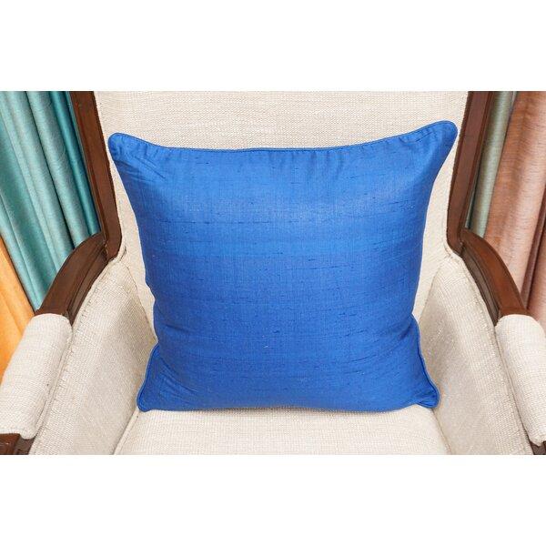 Cynthia Dupion Handloom Silk Throw Pillow by World Menagerie