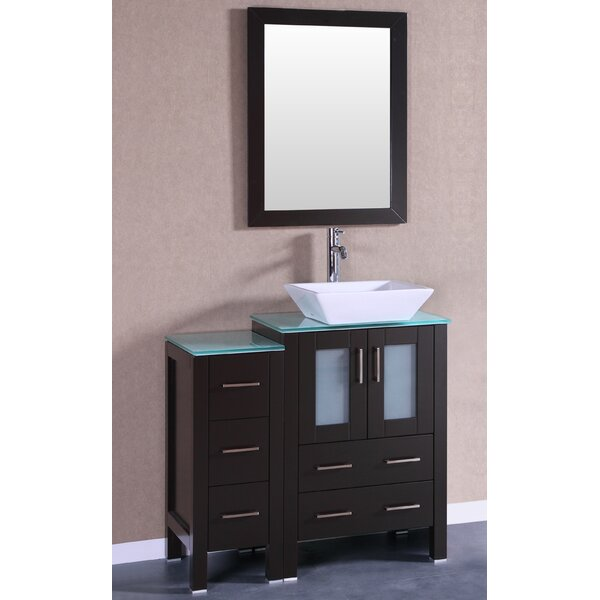 Figi 36 Single Bathroom Vanity Set with Mirror by Bosconi