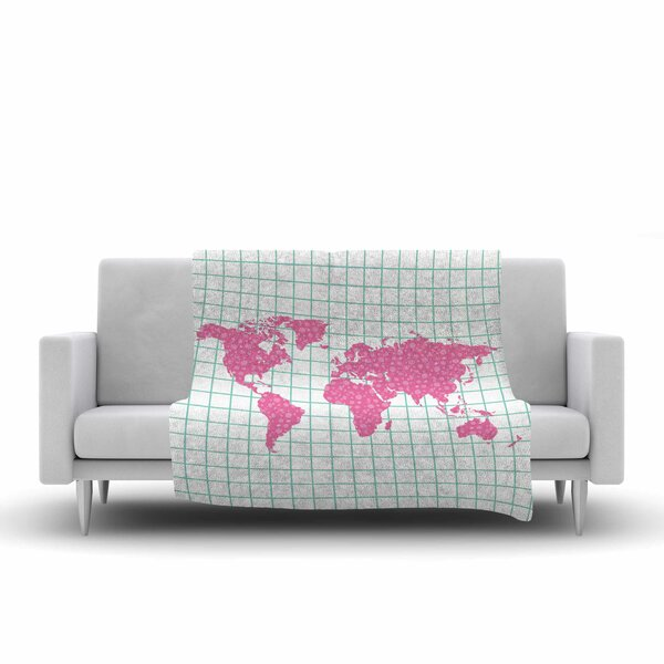 Map Fleece Throw Blanket by East Urban Home