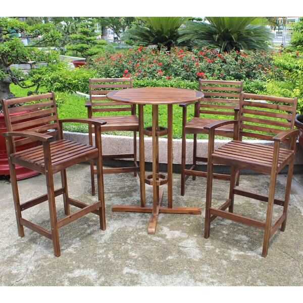 Michaela 5 Piece Bar Height Dining Set by Breakwater Bay