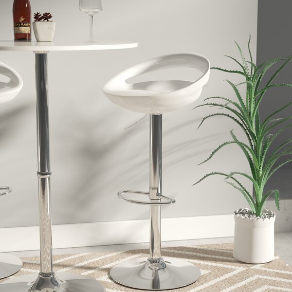 Carle Adjustable Height Swivel Bar Stool by Wade Logan
