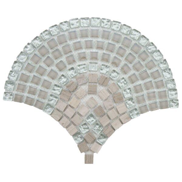 Sierra 0.563 x 0.563 Glass/Stone/Metal Mosaic Tile in Polished Metallics by EliteTile