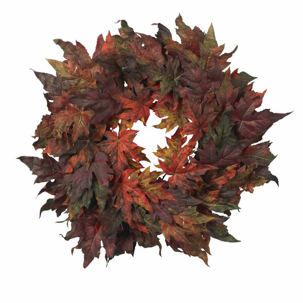 Maple Leaf Wreath by Nearly Natural