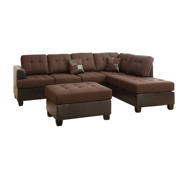 Offers Saving Reversible Sectional by Infini Furnishings by Infini Furnishings