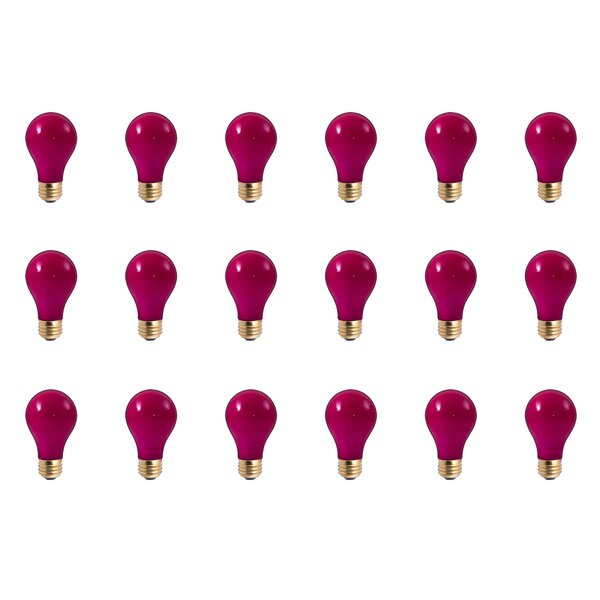 E26 Dimmable Incandescent Light Bulb Ceramic Pink (Set of 18) by Bulbrite Industries