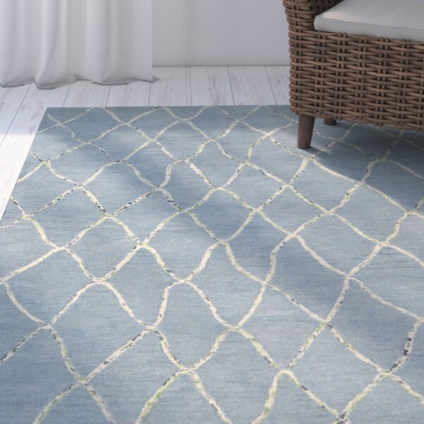 Mahoney Handmade Wave Area Rug by Rosecliff Heights