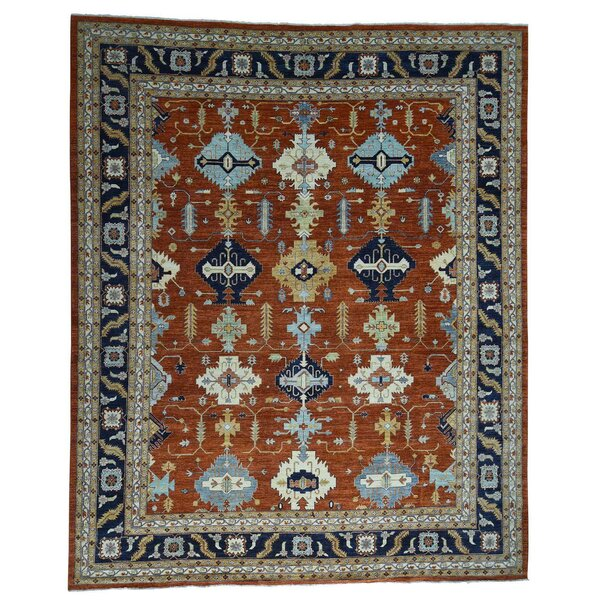 One-of-a-Kind Afghan Ersari Hand-Knotted Orange Area Rug by Bloomsbury Market