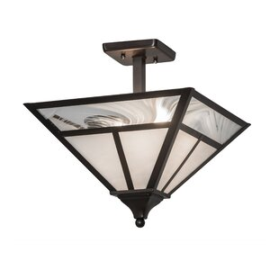 Buy luxury Youngquist 2-Light Outdoor Flush Mount By Loon Peak