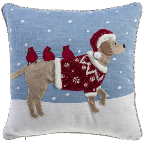 Holiday Dog Throw Pillow by The Holiday Aisle