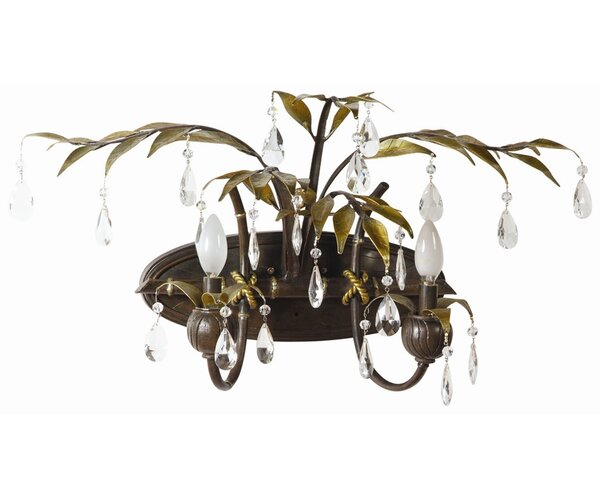 New Plantation 2-Light Vanity Light by Yosemite Home Decor