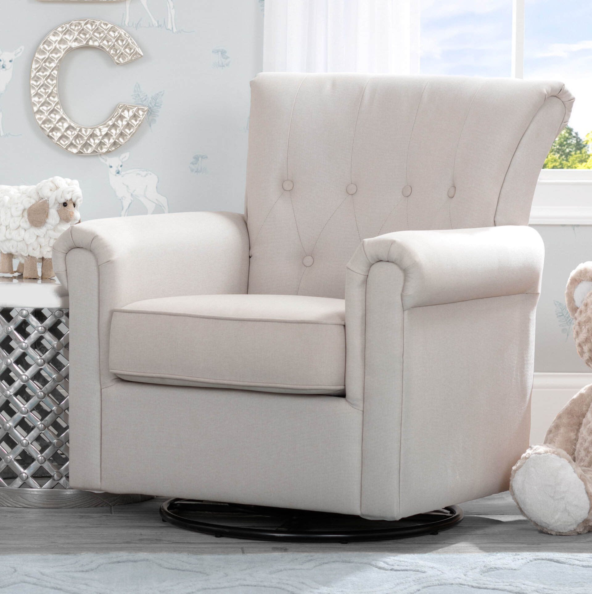 Delta Children Harper Nursery Swivel Glider | Wayfair