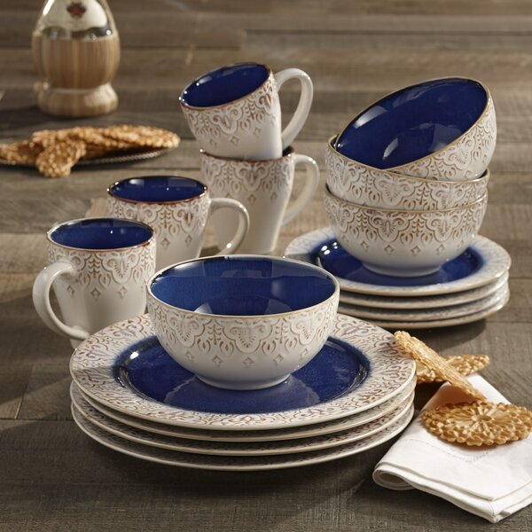 Esparza 16 Piece Dinnerware Set, Service for 4 by
