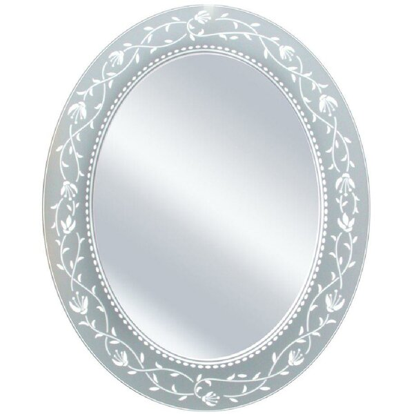 Morandiere Etched Border Bathroom/Vanity Mirror by