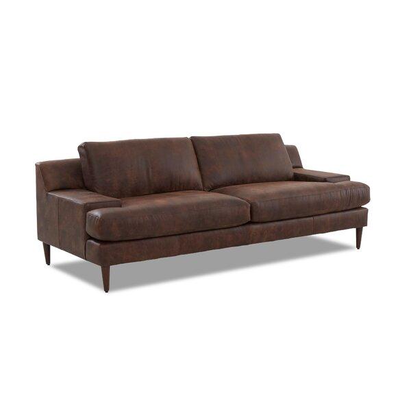 Brickey Leather Sofa by Corrigan Studio