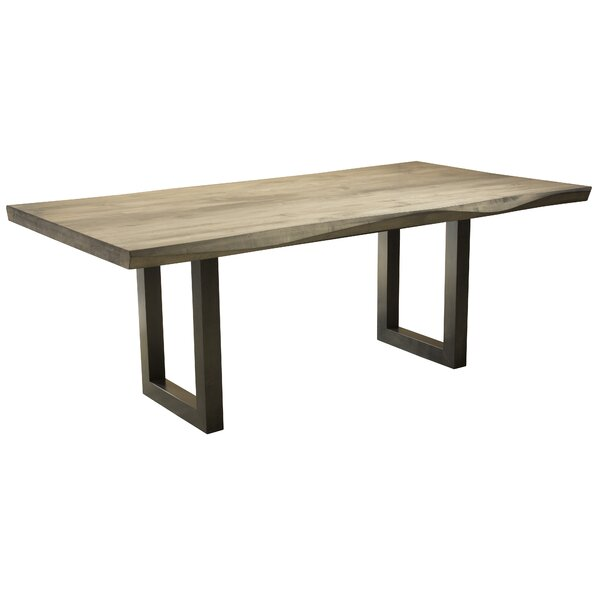 Fusco Maple Sculpted Edge Solid Wood Dining Table by Brayden Studio