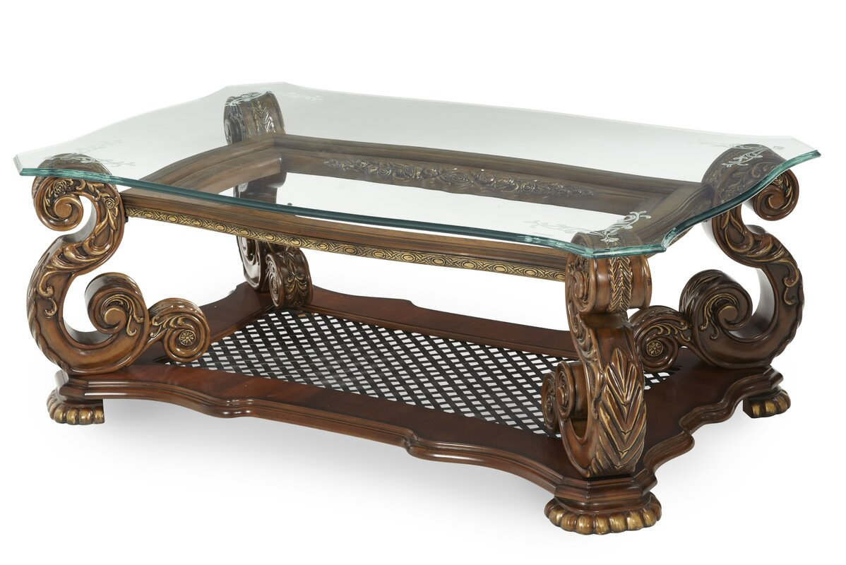 Michael amini oppulente coffee table reviews wayfair for When did table 52 open