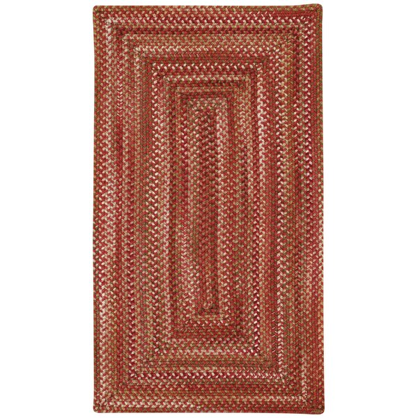 Holcombe Red Wool Hand Braided Area Rug by August Grove
