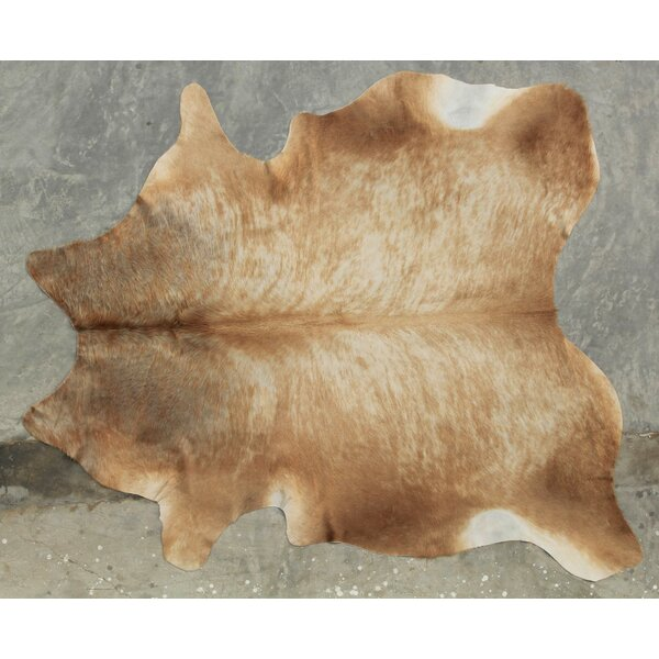 Natural Cowhide Champagne Area Rug by Modern Rugs