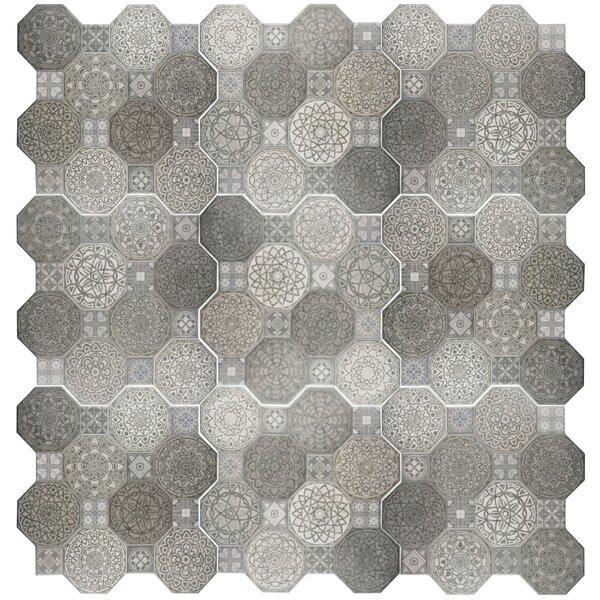 Imagino 17.75 x 17.75 Ceramic Tile in Gray by EliteTile