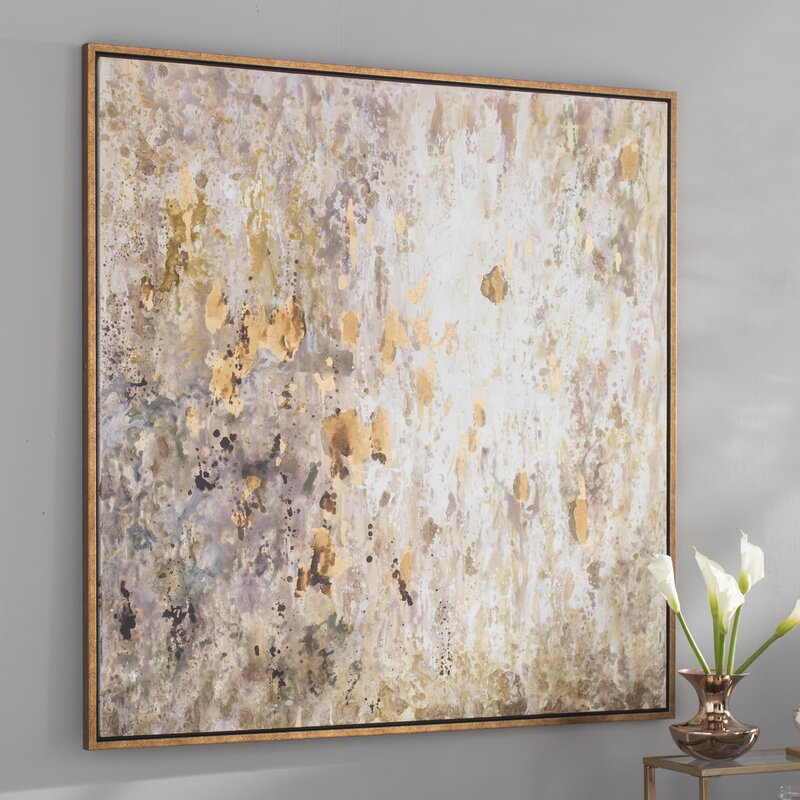 Raindrops Modern Abstract Framed Painting Print