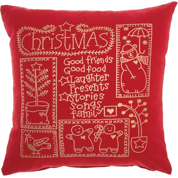 Leboeuf Christmas Cheer Cotton Throw Pillow by The Holiday Aisle