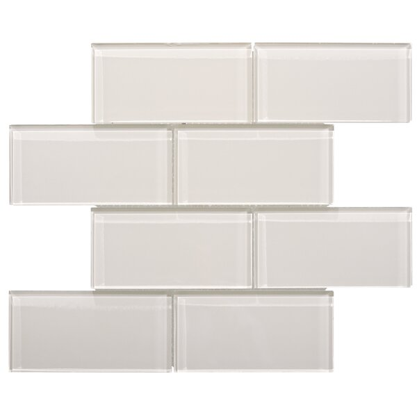 Premium Series 3 x 6 Glass Subway Tile in Icy Gray by WS Tiles