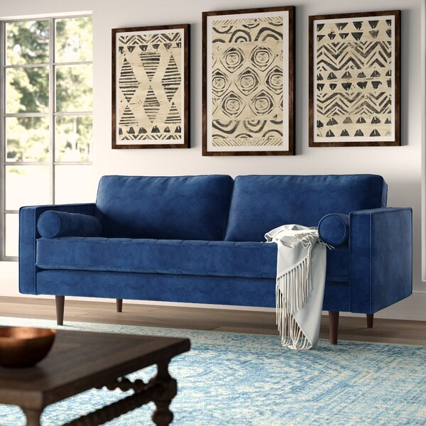Sensational Sapphire Blue Sofa Wayfair Machost Co Dining Chair Design Ideas Machostcouk