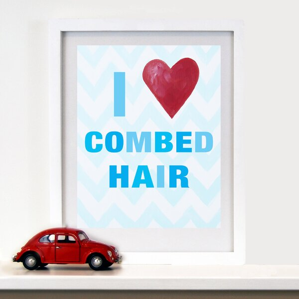 I Heart Combed Hair Paper Print by Cici Art Factory