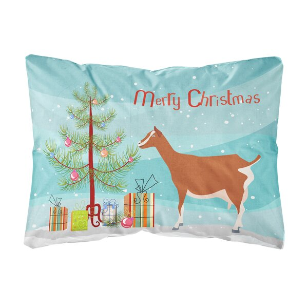 Leidesdorff Toggenburger Goat Christmas Indoor/Outdoor Throw Pillow by The Holiday Aisle