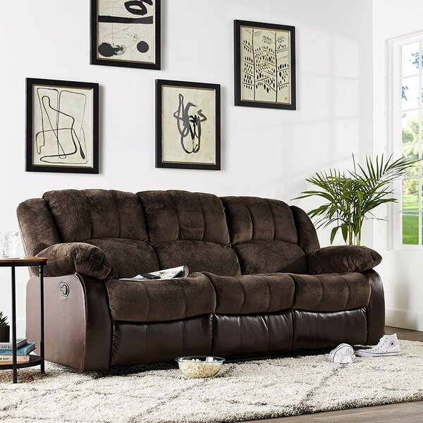 New High-quality Perrysburg Reclining Sofa by Winston Porter by Winston Porter