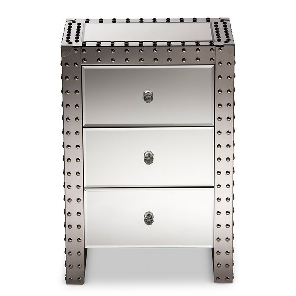 Emmons 3 Drawer Nightstand by Everly Quinn