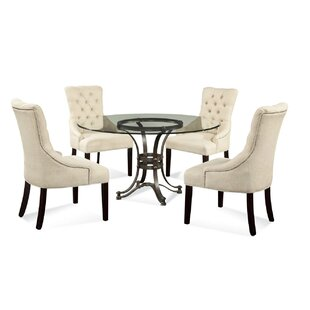 Lamb 5 Piece Glass Table Top Dining Set
