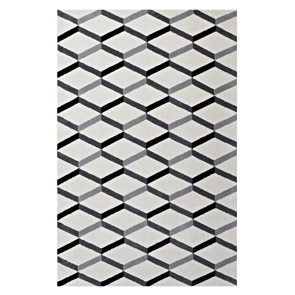 Douglas Forge Geometric Black/White Area Rug by Orren Ellis