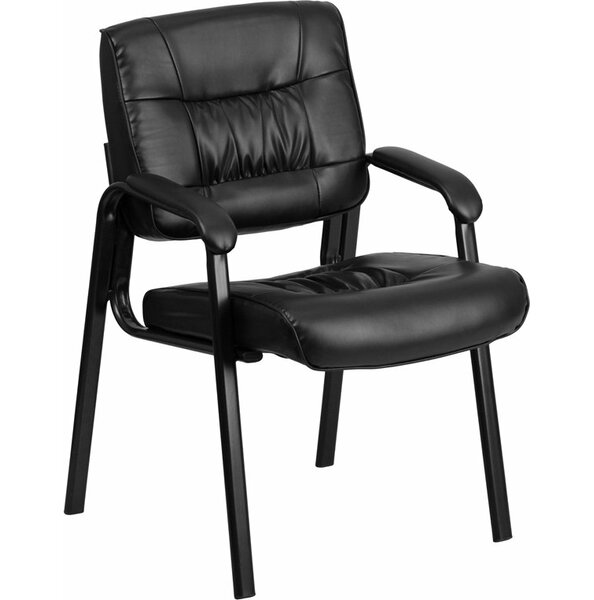 Kruger Leather Executive Guest Chair by Symple Stuff