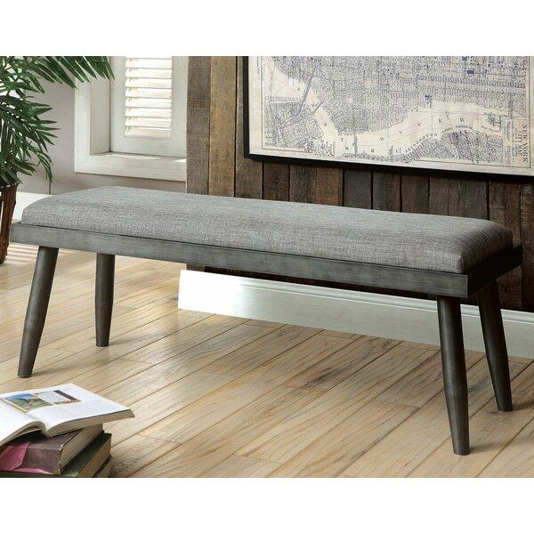 Olsen Wood Bench by Brayden Studio