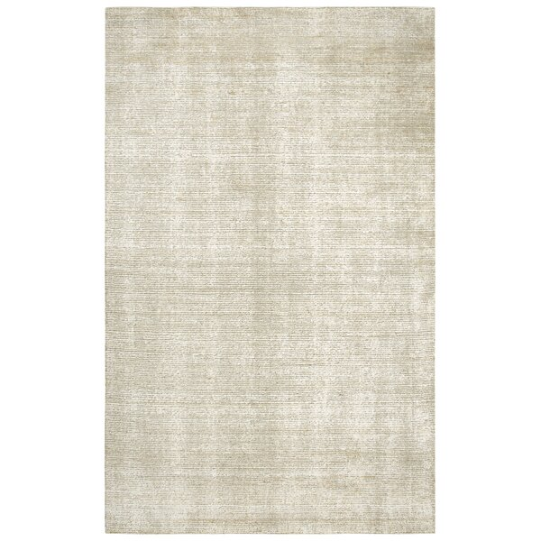 Hadley Hand-Woven Dark Beige Area Rug by Gracie Oaks