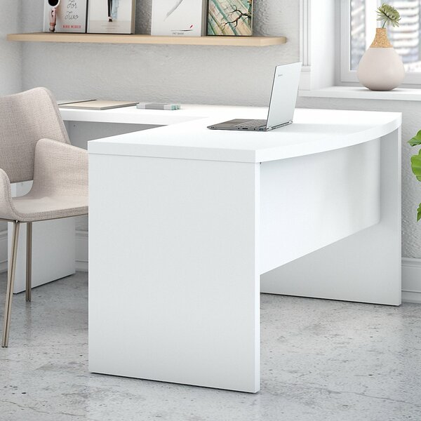 Echo Bow L-Shaped Desk by Kathy Ireland Office by Bush