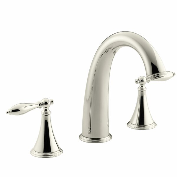 Finial Traditional Deck-Mount Bath Faucet Trim for High-Flow Valve with Lever Handles, Valve Not Included by Kohler
