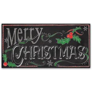 'Chalk Merry' Textual Art on Wrapped Canvas by Trademark Fine Art