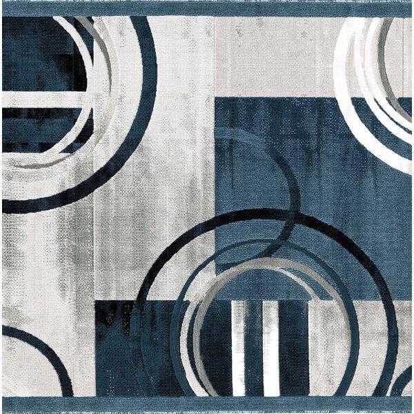 Charleson Dark Blue/Gray Area Rug by Orren Ellis