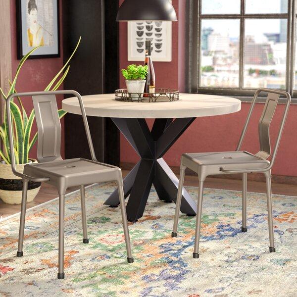 Menke Metal Cross Back Side Chair (Set Of 2) By Mercury Row