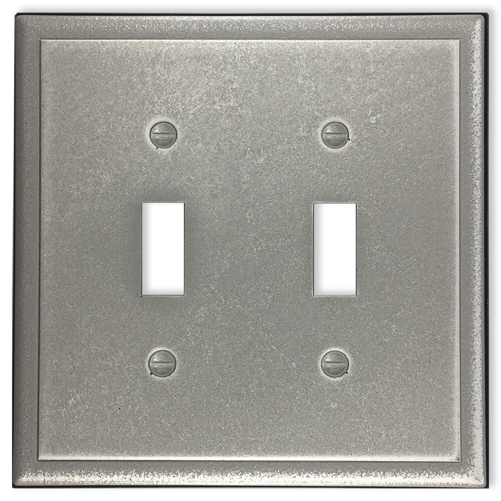 Questech Ambient Satin Metal Composite Switch Plate Wall Plate Outlet Cover Double Toggle Oil Rubbed Bronze Wall Plates Lighting Accessories
