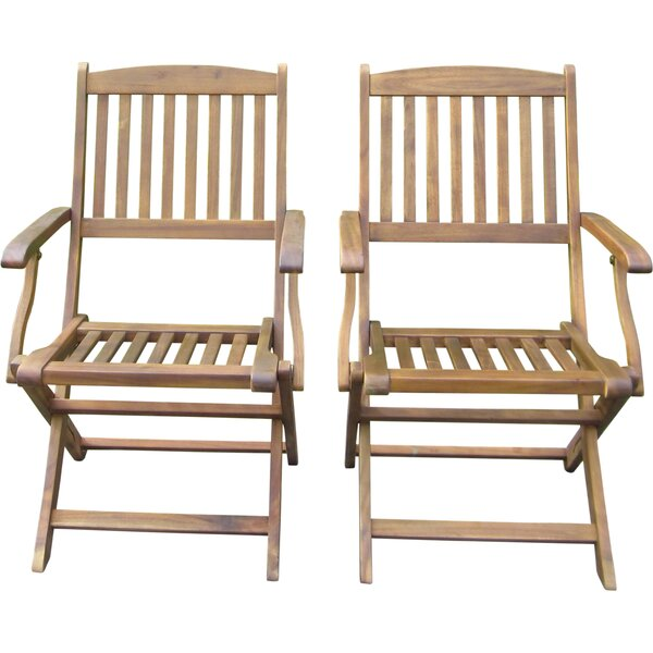 Harmond Folding Patio Dining Chair (Set Of 2) By August Grove